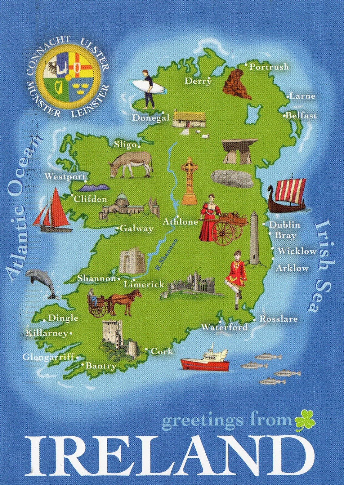 It's just a graphic of Versatile Map of Ireland Printable