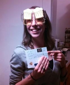 Christina Beer Goggles!